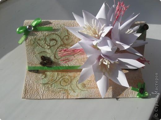 Увидела открытку у YuliaM, очень понравилась. Решила сделать несколько открыточек (как раз впереди два день рождения) и вот что получилось... фото 1