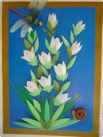 эти картины сделала для детского сада, теперь радуют детишек. так и наровят оторвать стрекозу и божьих коровок:-) фото 1