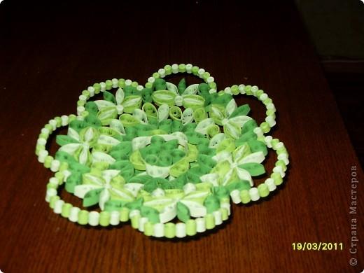 Люблю зеленый цвет. Вот и решила сделать кнфетницу в зеленых тонах. фото 2