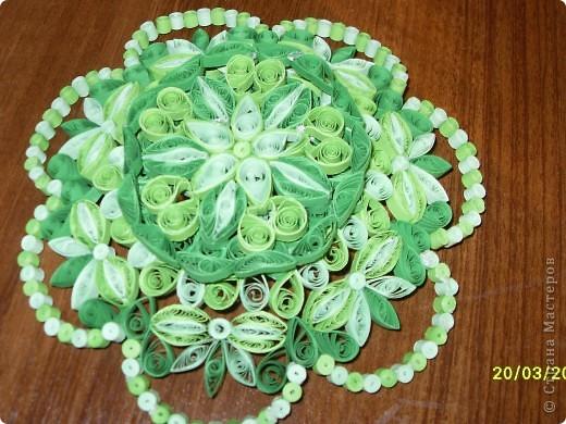 Люблю зеленый цвет. Вот и решила сделать кнфетницу в зеленых тонах. фото 3