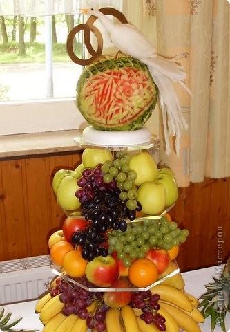 Сделала из ананаса подарок с сюрпризом: крышка открывается(мякоть удалена), а внутри подарок. фото 3