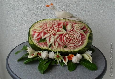 Сделала из ананаса подарок с сюрпризом: крышка открывается(мякоть удалена), а внутри подарок. фото 7