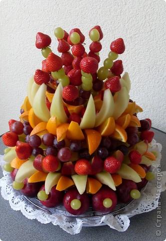 Сделала из ананаса подарок с сюрпризом: крышка открывается(мякоть удалена), а внутри подарок. фото 6