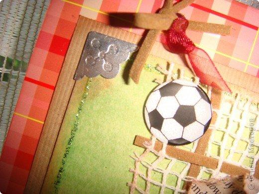 Сначала наметилась открытка, но потом, почему-то, захотела рамку. У сына в комнату повешу, он любит футбол. фото 12