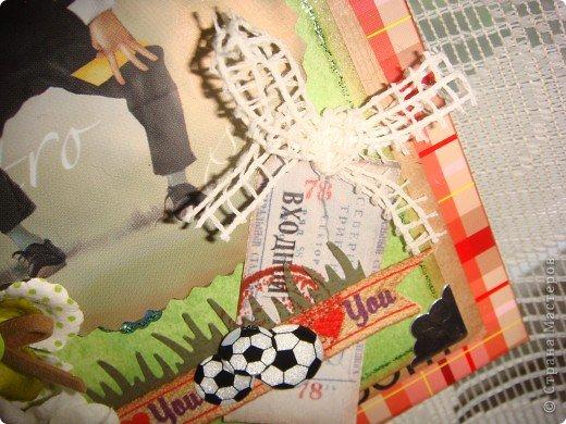 Сначала наметилась открытка, но потом, почему-то, захотела рамку. У сына в комнату повешу, он любит футбол. фото 15