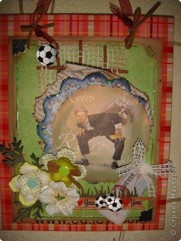 Сначала наметилась открытка, но потом, почему-то, захотела рамку. У сына в комнату повешу, он любит футбол. фото 1