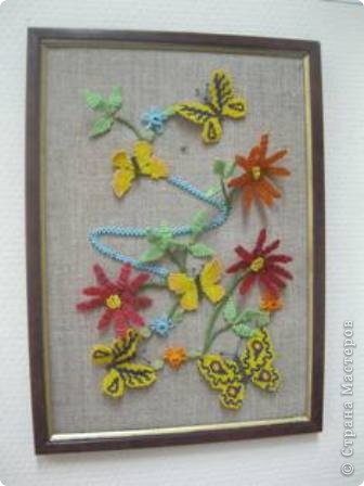 """В этой картине """"Лето"""" использовано многие техники: паралельное плетение, кирпичный стежок, """"ндбеле по кругу"""", """"крестик"""". Пусть эта картина поднимет Ваше настроение"""