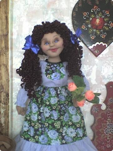 Вот родилась еще одна кукла-пакетница.  фото 2