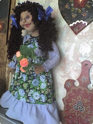Вот родилась еще одна кукла-пакетница.  фото 4