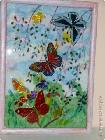 Легкокрылые бабочки  в летний  день.Нежные  крохотные  листочки  березки. фото 1