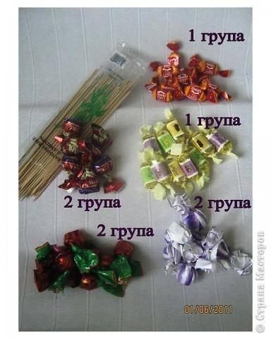 Приглашаю Вас посмотреть мой первый мастер-класс по букетам из конфет. Очень старалась и надеюсь, что он будет для вас нужным и полезным. фото 3