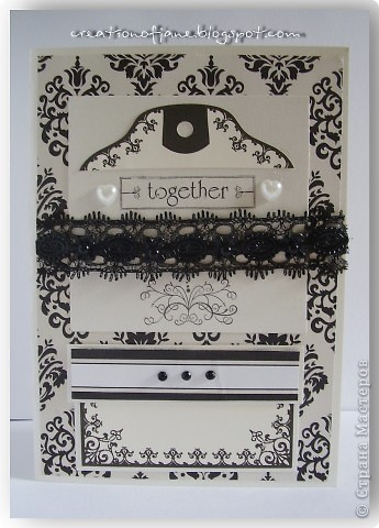 """Всем привет! Я так соскучилась по Стране. И вот новая порция моего креатива. Я решила поучаствовать в скрап-головоломке """"Свадебная открытка"""" на сайтеwww.scrap-info.ru. Суть задания создать необычную свадебную открытку. Перерыв кучу сайтов по свадебной тематике, я закачала уйму разнообразных свадебных фотографий. Очень понравилась идея одной свадьбы, с использованием нескольких основных цветов: топленого молока, белого и черного.    фото 1"""