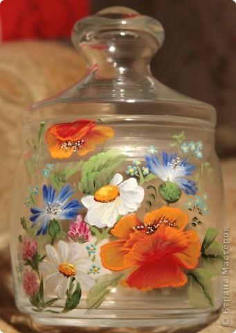 """Баночка для сыпучих продуктов """"Полевые цветы"""" фото 1"""