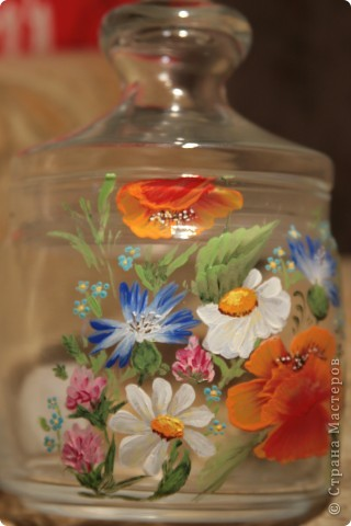 """Баночка для сыпучих продуктов """"Полевые цветы"""" фото 2"""