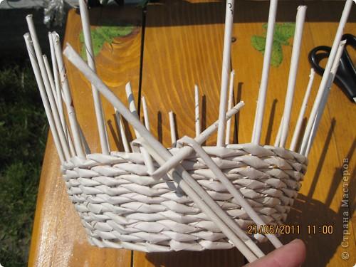 Мастер-класс Плетение Тарелочка с косичкой и МК косички от начала и до конца Бумага газетная фото 5