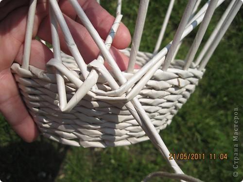 Мастер-класс Плетение Тарелочка с косичкой и МК косички от начала и до конца Бумага газетная фото 7