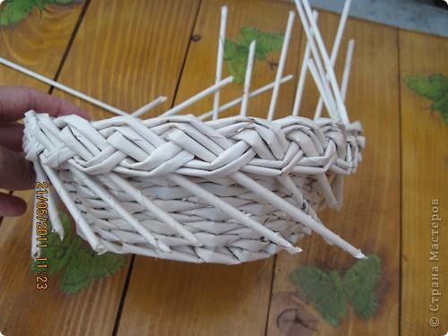 Мастер-класс Плетение Тарелочка с косичкой и МК косички от начала и до конца Бумага газетная фото 17