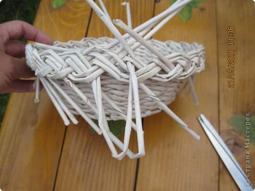 Мастер-класс Плетение Тарелочка с косичкой и МК косички от начала и до конца Бумага газетная фото 22