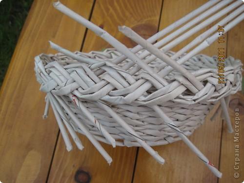 Мастер-класс Плетение Тарелочка с косичкой и МК косички от начала и до конца Бумага газетная фото 23