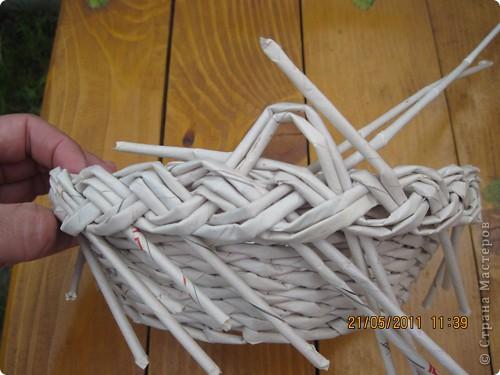 Мастер-класс Плетение Тарелочка с косичкой и МК косички от начала и до конца Бумага газетная фото 25