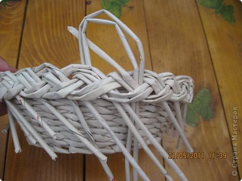 Мастер-класс Плетение Тарелочка с косичкой и МК косички от начала и до конца Бумага газетная фото 26