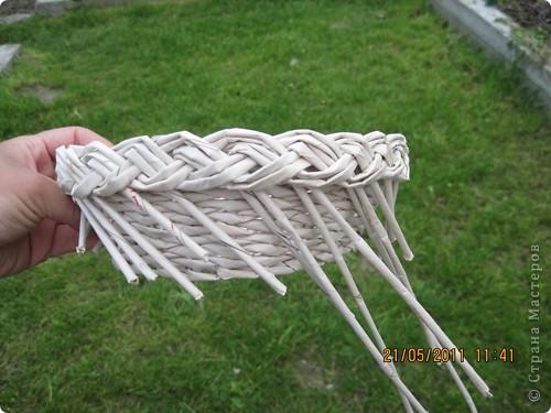 Мастер-класс Плетение Тарелочка с косичкой и МК косички от начала и до конца Бумага газетная фото 27