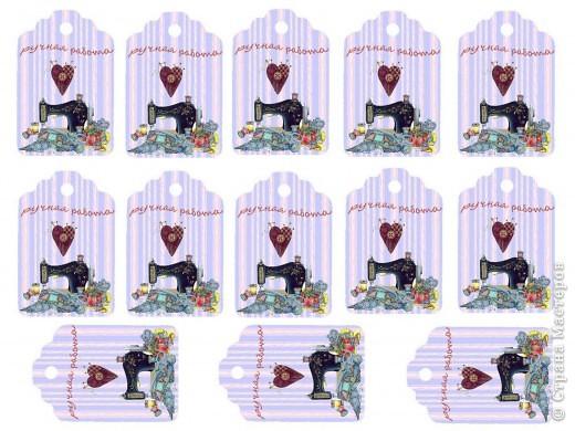 Сделала в программе для обработки фотографий  бирочки для игрушек , может ещё кому пригодятся ... фото 16