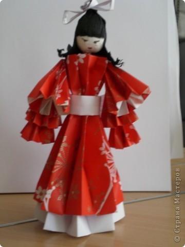 Куклы сделаны из модулей кусудамы Супершар (МК Татьяны Просняковой   фото 1
