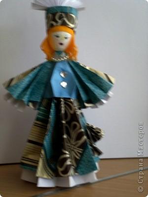 Куклы сделаны из модулей кусудамы Супершар (МК Татьяны Просняковой   фото 3
