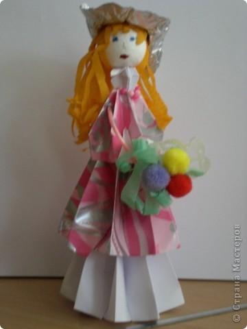 Куклы сделаны из модулей кусудамы Супершар (МК Татьяны Просняковой   фото 4