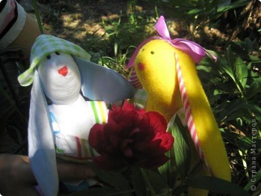Начались каникулы и появилось время для творчества. Настя полюбила шить зайцев по выкройкам кролика тильды. фото 1
