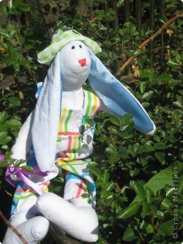Начались каникулы и появилось время для творчества. Настя полюбила шить зайцев по выкройкам кролика тильды. фото 2