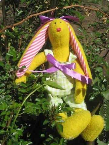 Начались каникулы и появилось время для творчества. Настя полюбила шить зайцев по выкройкам кролика тильды. фото 3