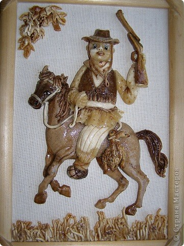 <P>По мотивам Марка Шагала.  У юбиляра надувной бизнес и он очень любит лошадей, поэтому и лошадь у него надувная. фото 2
