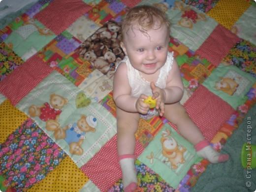 Детское лоскутное одеяло фото 5
