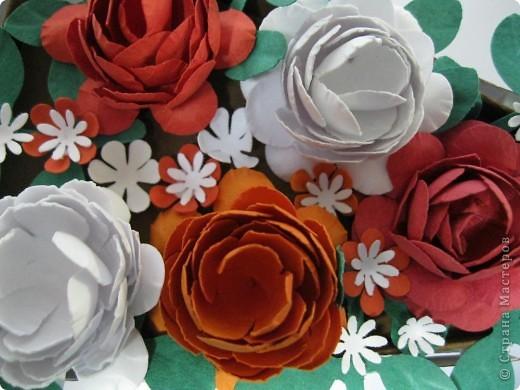 Цветы сделала сама из бумаги для пастели фото 1