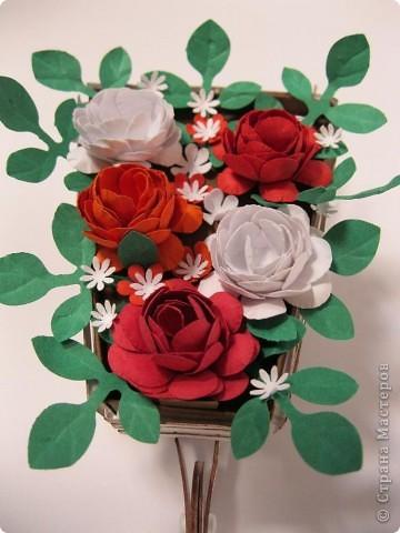 Цветы сделала сама из бумаги для пастели фото 2