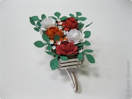 Цветы сделала сама из бумаги для пастели фото 8