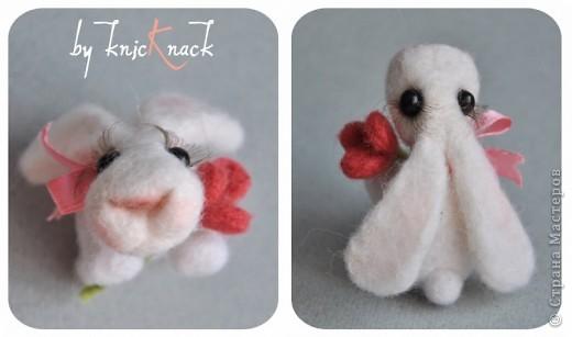 заказ на 10 ушастых был сделан к новому году - году кролика!) материал - шерсть, пластика, пастель высота - 5-6 см фото 9