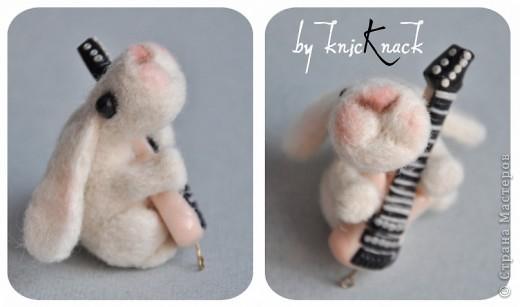 заказ на 10 ушастых был сделан к новому году - году кролика!) материал - шерсть, пластика, пастель высота - 5-6 см фото 8