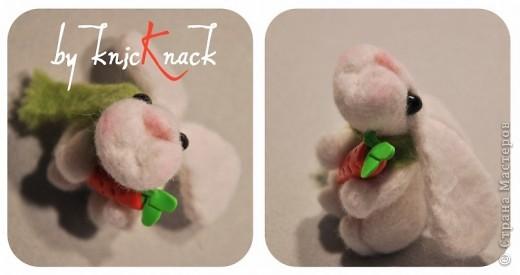 заказ на 10 ушастых был сделан к новому году - году кролика!) материал - шерсть, пластика, пастель высота - 5-6 см фото 11
