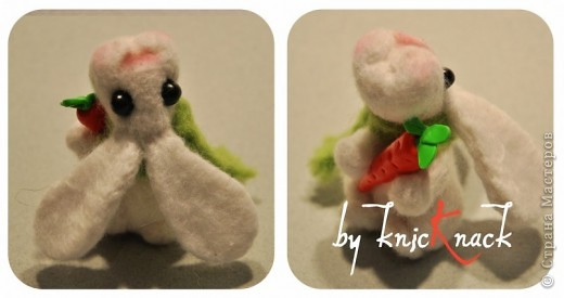 заказ на 10 ушастых был сделан к новому году - году кролика!) материал - шерсть, пластика, пастель высота - 5-6 см фото 12