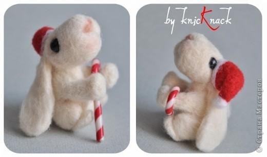 заказ на 10 ушастых был сделан к новому году - году кролика!) материал - шерсть, пластика, пастель высота - 5-6 см фото 13