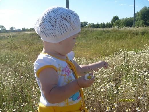 Вязание крючком - Ажурный беретик для моего солнышка.