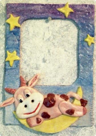 """Рамка для фото """"Корова на луне"""""""