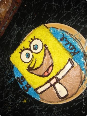 Бисквитный тортик со сметанным кремом) фото 1