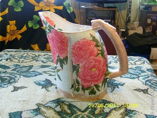 Огромное спасибо IZOLENA  за такую идею http://stranamasterov.ru/node/119177 ;наконец-то всё совпало и чайник попался какой хотелось и на улице дождик и настроение творить... фото 1