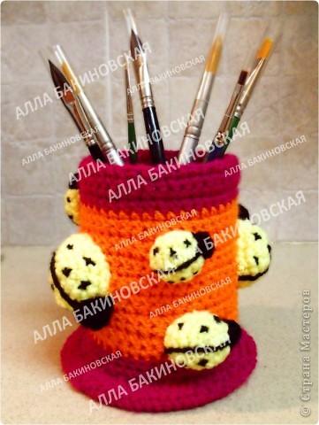 Вот такая придумалась карандашница! фото 8