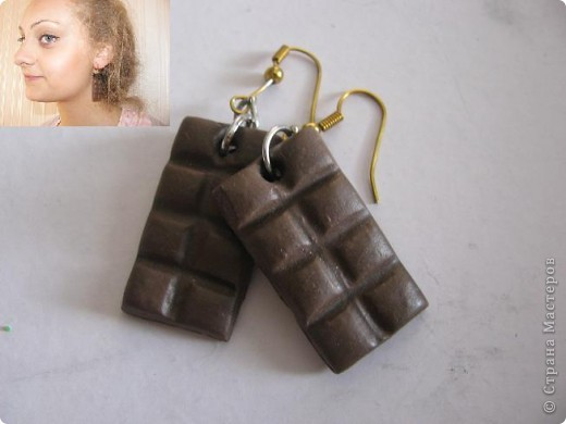 Мои серьги из пластики фото 1