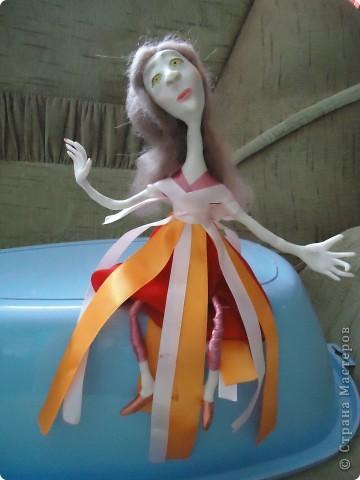 Вообще хотелось сделать куклу не похожую на всех и нестандартную. Но как всегда - не получилось фото 1